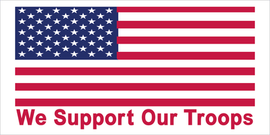 WE SUPPORT OUR TROOPS USA FLAG AMERICAN PATRIOT PRO USA BUMPER STICKERS PACK OF 50 WHOLESALE