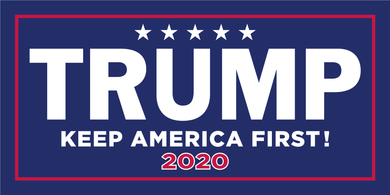 TRUMP KEEP AMERICA FIRST! 2020 OFFICIAL BUMPER STICKER PACK OF 50 WHOLESALE FULL COLOR