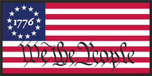 1776 BETSY ROSS WE THE PEOPLE OFFICIAL BUMPER STICKER PACK OF 50 WHOLESALE FULL COLOR