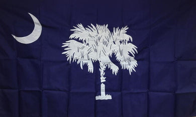 S.C. 3' X 5' (ALSO 4' X 6', 5' X 8') 2 PLY SPUN POLYESTER OUTDOOR FLAG SOUTH CAROLINA STATE