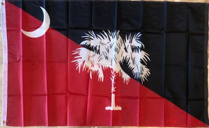 SOUTH CAROLINA GARNET & BLACK USC OFFICIAL 68D NYLON PREMIUM UV PROTECTED WATER PROOF 3'X5' FLAGS ROUGH TEX