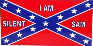 I AM SILENT SAM REBEL FLAG BUMPER STICKER PACK OF 50 BUMPER STICKERS MADE IN USA WHOLESALE BY THE PACK OF 50!
