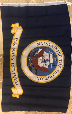 U.S. NAVY RETIRED MAINTAINING THE TRADITION 3'X5' FLAG SUPER POLY