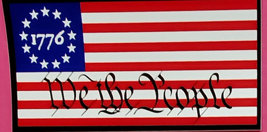 Betsy Ross 1776 We The People  - Bumper Sticker