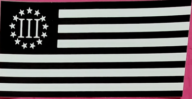 Betsy Ross 3 Percenter Black And White  - Bumper Sticker
