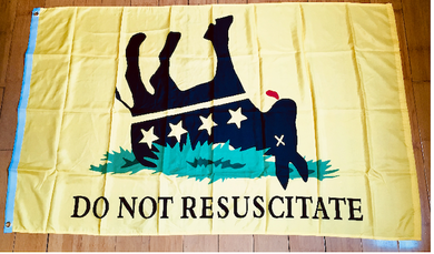 Do Not Resuscitate Flag Rough Tex® 100D Size Variants (3'X5' 2'X3 12