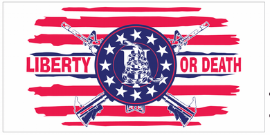 Liberty Or Death Gadsden 2nd Amendment Stars And Stripes - Bumper Sticker