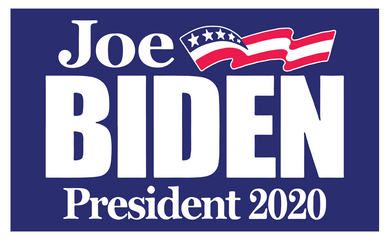 *SHIPS JUNE 15th* Joe Biden 2020 Blue Double Sided Yard Sign 14.5