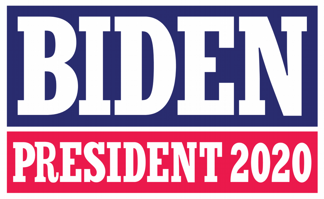 Biden 2020 Red And Blue Double Sided Yard Sign 14.5