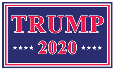 Trump 2020 Red And Blue Double Sided Yard Sign 14.5