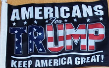 TRUMP CAR FLAGS:  TRUMP 2020, TRUMP NATION, TRUMP KEEP AMERICA FIRST (NAVY & RED) DOUBLE SIDED ROUGH KNIT ®