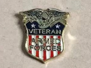 Veteran Armed Forces- Cloisonne Hat & Lapel Pin