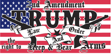 2nd Amendment Trump Law And Order - Bumper Sticker