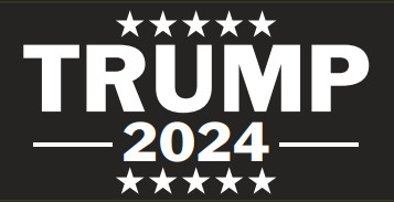 Trump 2024 Black Bumper Sticker