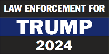 Law Enforcement For Trump 2024 Bumper Sticker