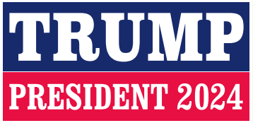 Trump President 2024 Bumper Sticker
