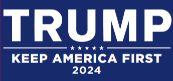 Trump 2024 Keep America First KAF Blue Bumper Sticker