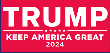 Trump 2024 Keep America Great KAG Red Bumper Sticker