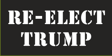 Re-Elect Trump Black & White Bumper Sticker