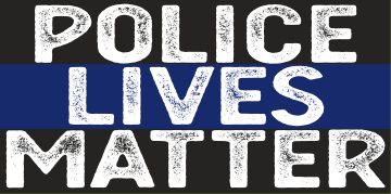 Police Lives Matter Faded Bumper Sticker