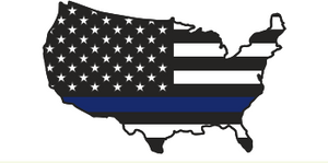 US Police Memorial Map Bumper Sticker