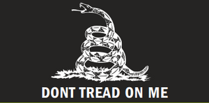 Gadsden Black & White Bumper Sticker