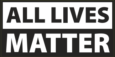 All Lives Matter Black & White Bumper Sticker