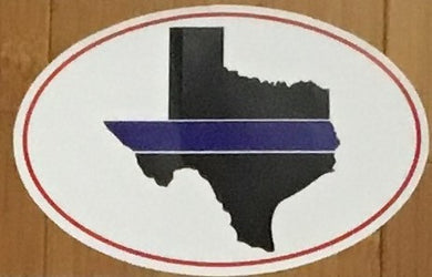 TEXAS BLUE LINE OVAL OFFICIAL BUMPER STICKER PACK OF 50 BUMPER STICKERS MADE IN USA WHOLESALE BY THE PACK OF 50!