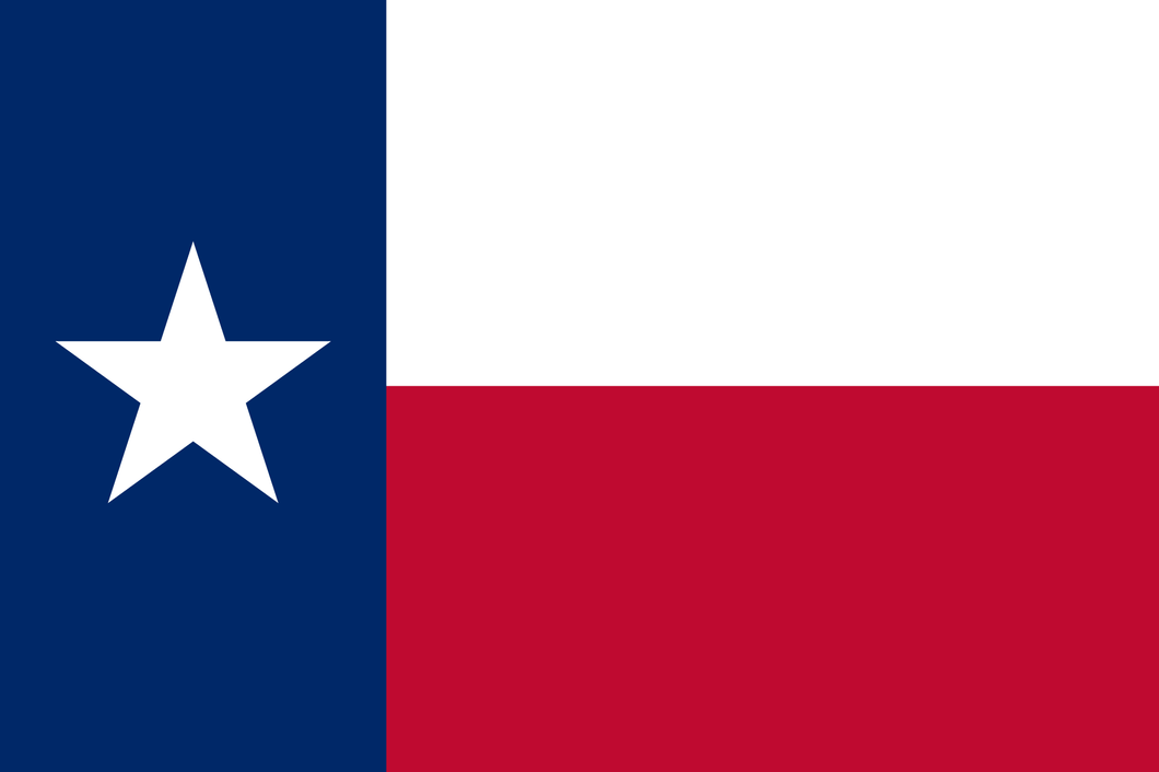 TEXAS 150D ROUGHTEX NYLON 3'X5' PRINTED FLAG