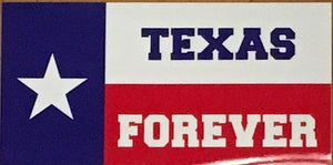 TEXAS FOREVER OFFICIAL BUMPER STICKER PACK OF 50 BUMPER STICKERS MADE IN USA WHOLESALE BY THE PACK OF 50!