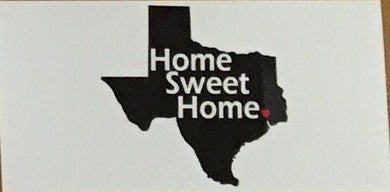 TEXAS: HOME SWEET HOME OFFICIAL BUMPER STICKER PACK OF 50 BUMPER STICKERS MADE IN USA WHOLESALE BY THE PACK OF 50!