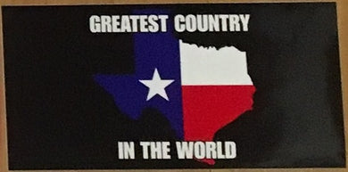 TEXAS IS THE GREATEST COUNTRY IN THE WORLD OFFICIAL BUMPER STICKER PACK OF 50 BUMPER STICKERS MADE IN USA WHOLESALE BY THE PACK OF 50!