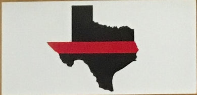 TEXAS RED LINE OFFICIAL BUMPER STICKER PACK OF 50 BUMPER STICKERS MADE IN USA WHOLESALE BY THE PACK OF 50!