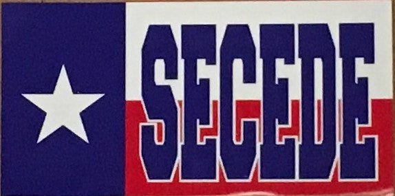 TEXAS SECEDE OFFICIAL BUMPER STICKER PACK OF 50 BUMPER STICKERS MADE IN USA WHOLESALE BY THE PACK OF 50!