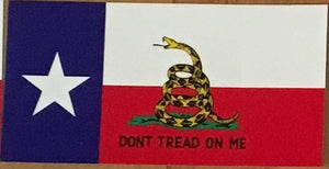 TEXAS STATE GADSDEN OFFICIAL BUMPER STICKER PACK OF 50 BUMPER STICKERS MADE IN USA WHOLESALE BY THE PACK OF 50!