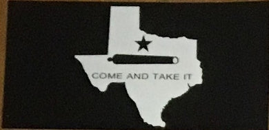 TEXAS STATE OUTLINE COME AND TAKE IT OFFICIAL BUMPER STICKER PACK OF 50 BUMPER STICKERS MADE IN USA WHOLESALE BY THE PACK OF 50!