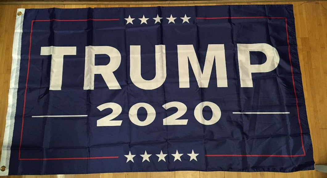 TRUMP 2020 OFFICIAL BLUE CAMPAIGN FLAG 3'X5' FLAG 68D Rough Tex Nylon