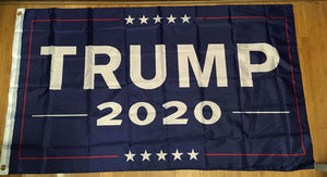 12 TRUMP 2020 OFFICIAL BLUE FLAG 3'X5' FLAGS BY THE DOZEN WHOLESALE PER DESIGN!