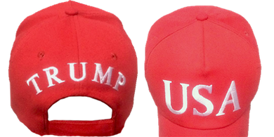 PRESIDENT TRUMP OFFICIAL 45 RED USA CAP 100% COTTON HAT