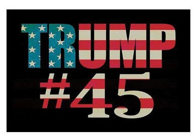 TRUMP 45 BLACK Boat Flag 12x18 Inches Grommets Double Sided