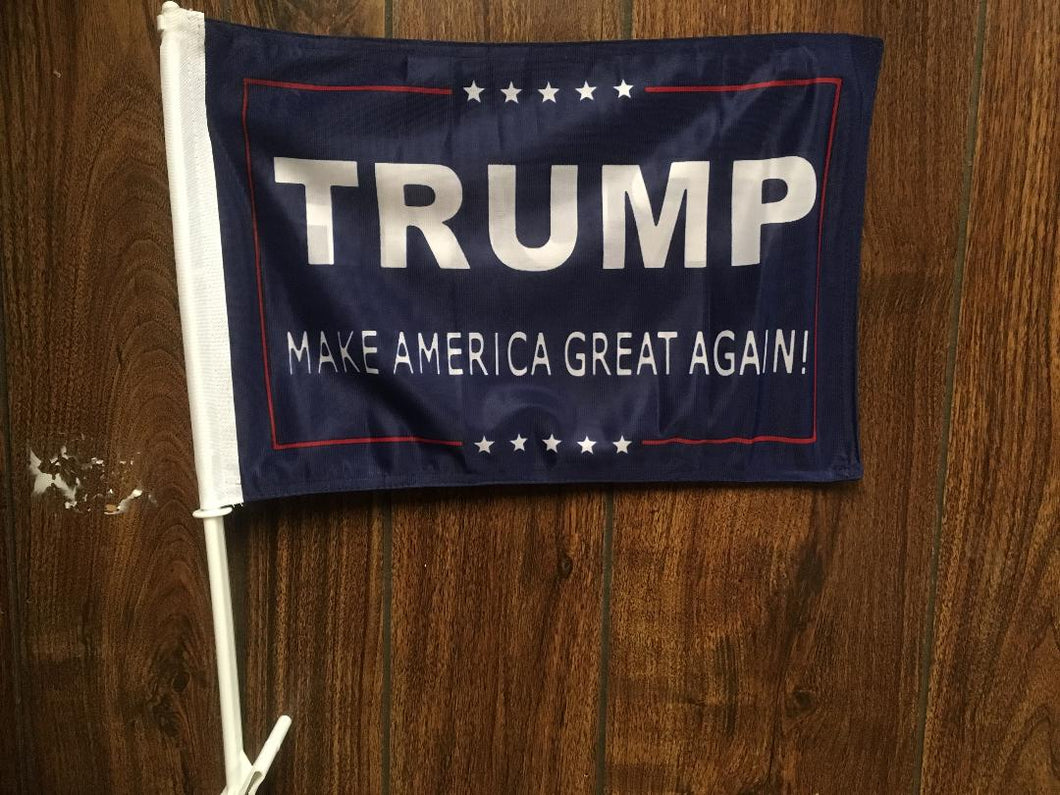*TEMPORARILY OUT OF STOCK* Trump II car flag