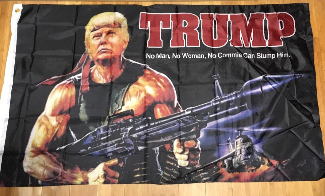 12 TRUMP BAZOOKA FLAGS MAGA 3'X5' Rough Tex 100D ® no commie