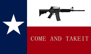 12 Texas Come & Take It 3'X5' WHOLESALE 150D NYLON PRINTED