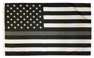 3'X5' USA Memorial Correction Officers Thin Grey Line  Flag Rough Tex® 100D