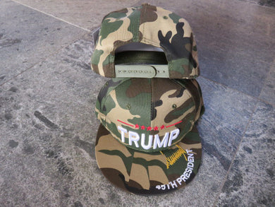 *IN STOCK*  Trump 45th President Camo Gold Signature  - Cap