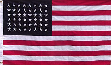 USA 48 STAR EMBROIDERED COTTON FLAGS 3'X5'