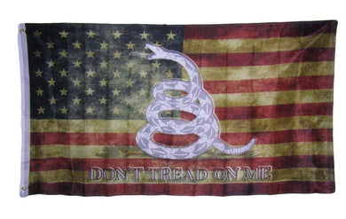 12 USA VINTAGE GADSDEN 3'X5' 68D NYLON FLAGS SOLD BY THE DOZEN