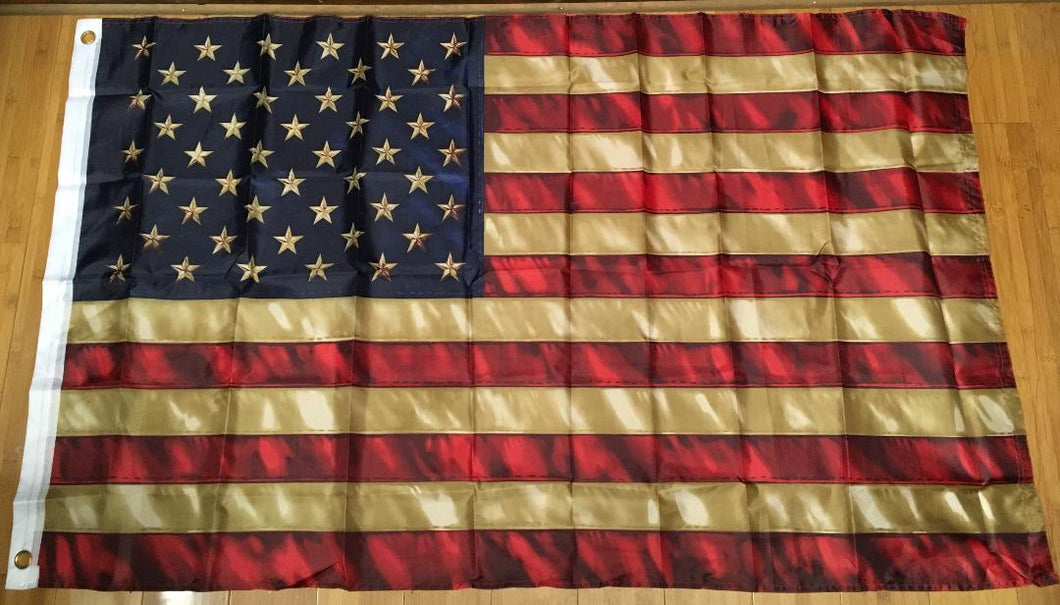 12 USA VINTAGE AMERICAN FLAG 3'X5' FLAGS BY THE DOZEN WHOLESALE PER DESIGN!