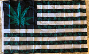 USA WEED MARIJUANA OFFICIAL 150D NYLON PREMIUM UV PROTECTED WATER PROOF 3'X5' FLAGS ROUGH TEX