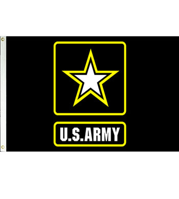 Army Star 3'x5' 210d nylon